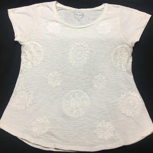 Lucky Brand Short Sleeve Cotton Top Size XL